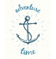 Drawn Adventure time Motivation poster anchor vector image