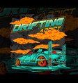 drifting addict vector image vector image