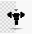 dumbbell gain lifting power sport glyph icon on vector image