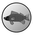 Fish button vector image vector image