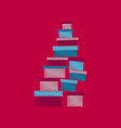 flat shading style icon mountain of boxes vector image