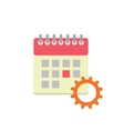 Flat style calendar icon vector image vector image