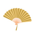 golden open fan isolated on background fan vector image