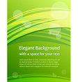 green brochure design vector image vector image