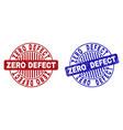 grunge zero defect textured round stamps vector image vector image