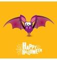 Happy halloween background with bat vector image