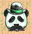Hat Panda Mustache vector image vector image