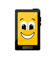 isolated happy cellphone emote vector image vector image