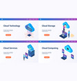 isometric landing page set 01 vector image vector image