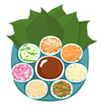 leaf wrapped salad bite thai appetizer vector image vector image