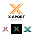linear letter x logo monogram simple sport vector image vector image