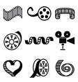 logo icons movie vector image vector image