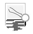 market fall downward vector image