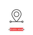 minimal editable stroke destination pin icon vector image vector image