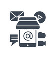 mobile marketing glyph icon vector image