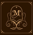 monogram luxury vector image