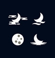 moon logo design template vector image