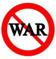 No war sign vector image