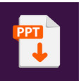 orange icon ppt file format extensions vector image vector image