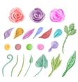 set floral graphic design elements vector image vector image