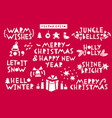 set of christmas and new year celebration vector image vector image