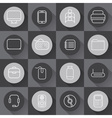 Set of line craft icons for business with computer vector image