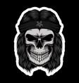 skull rocker head stickers vector image