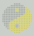 Smiley yin yang vector image vector image