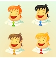 Smiling young men vector image