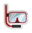 snorkel device isolated icon vector image vector image