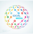 social media element icon sheme globe worldwide vector image