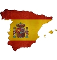 Spain map with flag inside vector image vector image