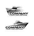 speed boat line art logo template vector image vector image