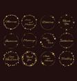 stardust golden frames wedding invitations vector image vector image