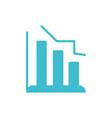 statistics diagram business finance color vector image