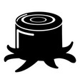 stump icon simple style vector image