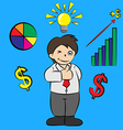 success businessman cartoon vector image vector image