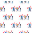 teamwork and startup seamless pattern business vector image vector image