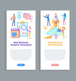 tool to grow business analysis techniques set vector image vector image