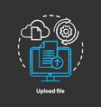 upload file chalk concept icon data transfer idea vector image