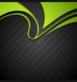 Vibrant corporate abstract background with wavy vector image vector image