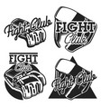 vintage fight club emblems vector image