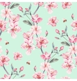 Vintage garden spring seamless background vector image vector image