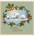 vintage greetings vector image