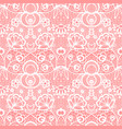 white lace seamless pattern with flowers vintage vector image vector image