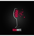 wine glass bubbles splash menu background vector image vector image