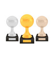 winner basketball awards set gold silver bronze vector image vector image