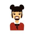 Woman emoji face vector image vector image