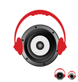 speaker with headphones vector image