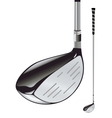Golf club on white background vector image